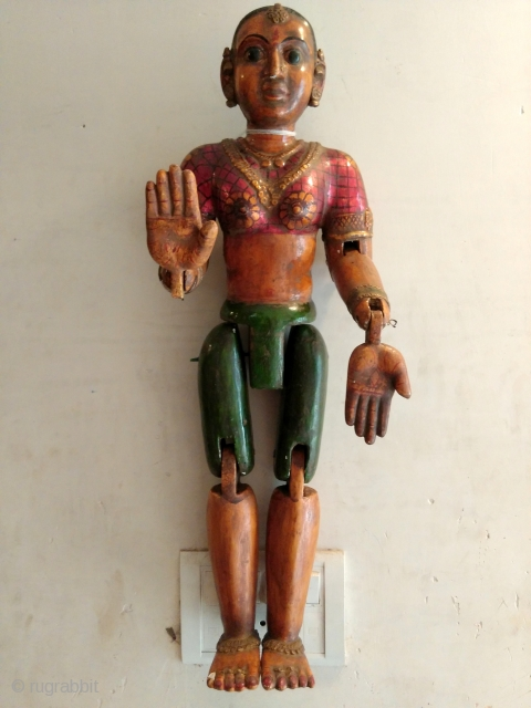 Wooden Poly-chrome Puppet.