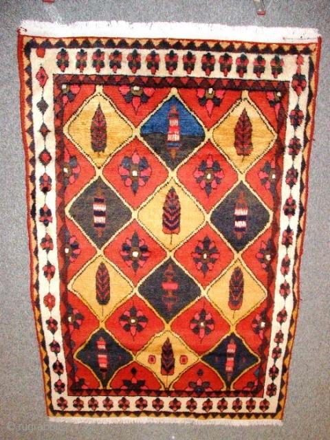 995 Gabbeh (2.10x1.40m)shine wool.high pile,no repair wonderful carpet.