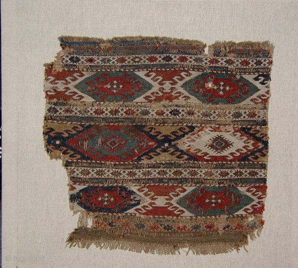 464 Shahsavan Mafrash - Fragment (0.51x0.56m),about 1850,good colours.