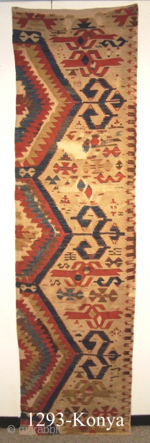 1293 Konya Kilim Fragment (2.38x0.67m) 1st quarter 19th cent.