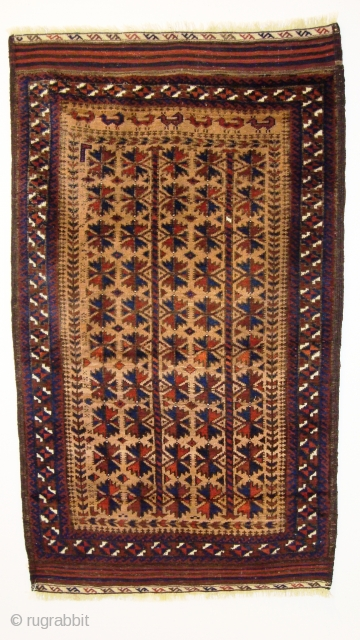 1500 Beludj Nort-east Iran (1.30x0.79m)Perfect condition shine wool,about 1900,naural colourd.A very beautiful piece.