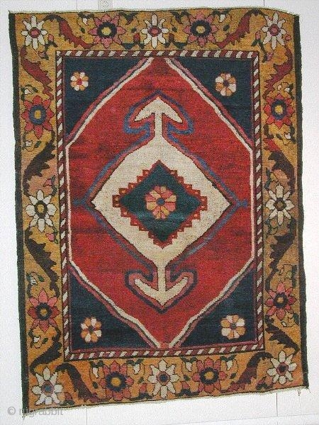 Gabbeh (2.07x1.48m) Very good condition,made about 1900, wool to wool.POR