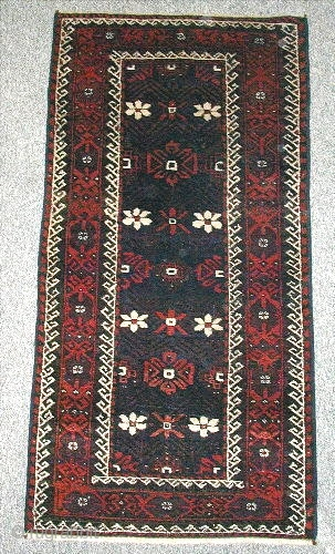 Beludj (1.83x0.78m) about 1900,perfect condition,north-east Iran natural dyes.
