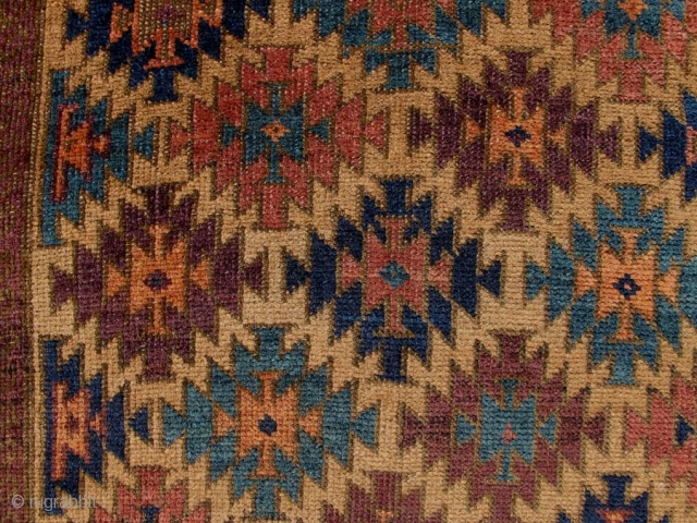 "BAHLULI. Excellent condition (amazingly good for a "" Baluch "" genre rug). It is 51"" x 31"" (129cm x 79cm).  Finely woven, thin, floppy, good age, lots of good colors. Lots  ..."