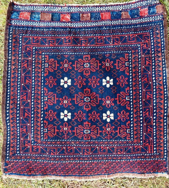 Baluch bagface - having some small old repairs, otherwise original.  Nice wool, design and weave.