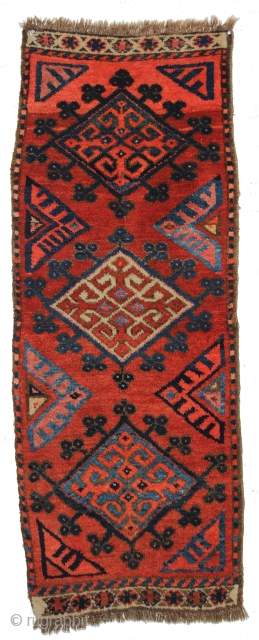 A brilliant Uzbek (Kyrgyz?) balisht. C.1900. 1-6 x 3-6 ft. Full, saturated pile in great condition.