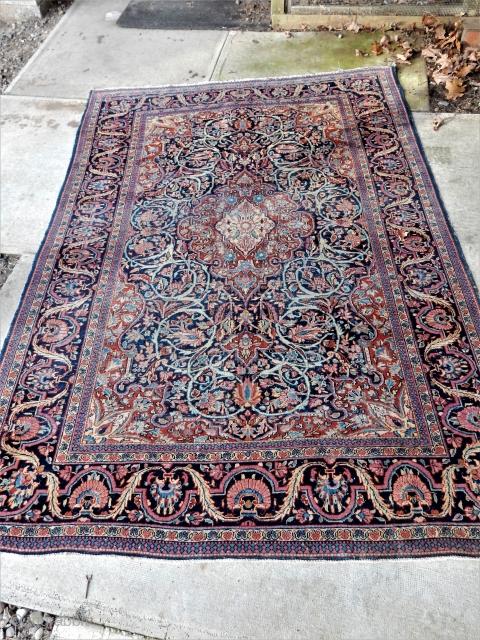 4 12/ x 6 1/2 ft kashan  bargain priced
