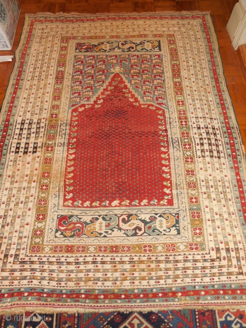 turkish prayer rug  about 4 x5 ft