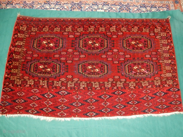 SELLING  TWO TURKOMAN WEAVINGS  FROM MY OWN COLLECTION - 1.TEKKE CHUVAL ON EXCELLENT PLUS CONDITION  2. A GREAT TEKKE TORBA