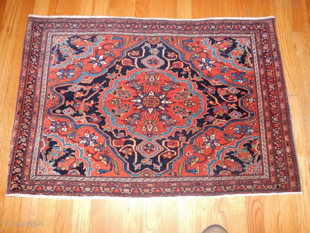 MINT CONDITION FEREGHAN SAROUK SMALL RUG -FULLEST PILE BEST QUALITY -