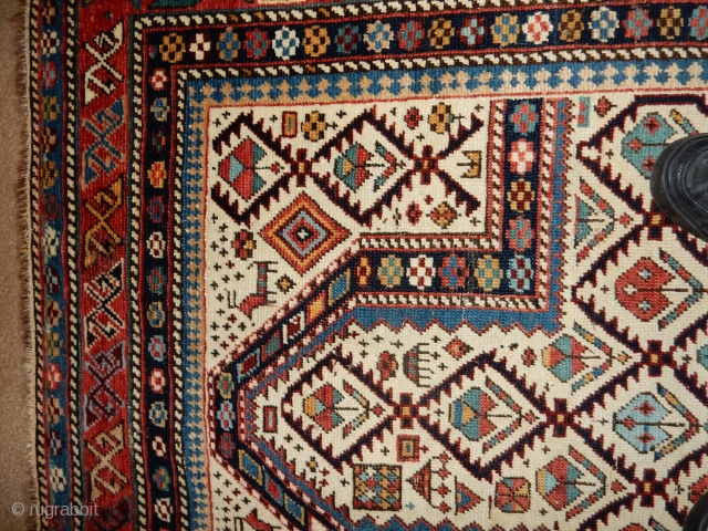 ESTATE DAGESTAN WITH EXCELLENT + PILE - NO REPAIRS, NO REPILING , ORIGINAL CONDITION  3 FT 9 X 5 FT 4 INCHES -  LOOK AT THE ENDS AND SIDES FOR ORIGINAL  ...