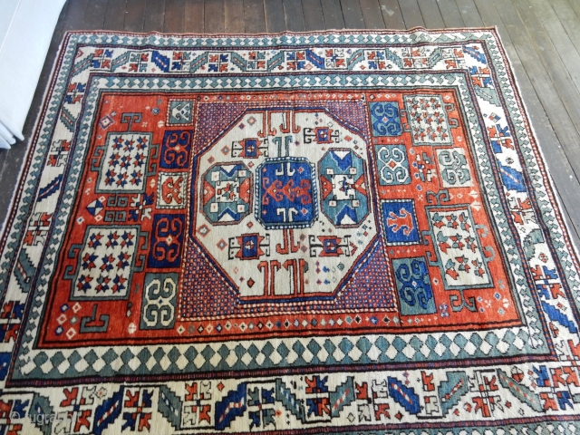 kazak 66 x 76 inches - all original with excellent pile