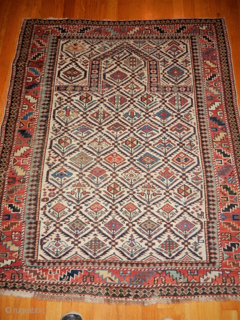 CLASSIC SHIRVAN RUG- NICE SMALL 3 X 3+ FT SIZE - ALL ORIGINAL 