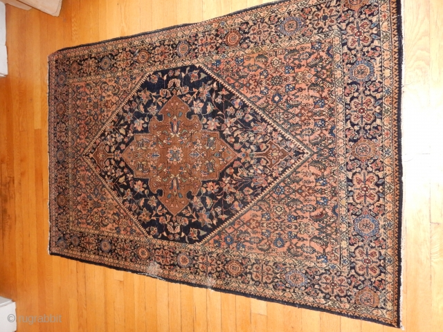 FARAHAN-FEREGHAN=FEREHAN...ORIGINAL ESTATE CONDITION ...NO REPAIRS .... 40 X 56 INCHES ....EXCELLENT PILE AND   FOUNDATION ...2 X 2 INCH MOTH DAMAGE ONE ONE SIDE ......ONLY $700