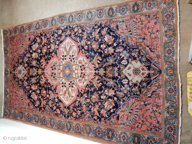 ANTIQUE SAROUK - 54 X 78 INCHES -EXCELLENT CONDITION - NO CONDITION ISSUES - SPECIAL PRICE