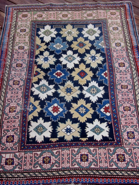 KUBA BLOSSOM CARPET-EXCELLLENT ORIGINAL CONDITION AS FOUND-