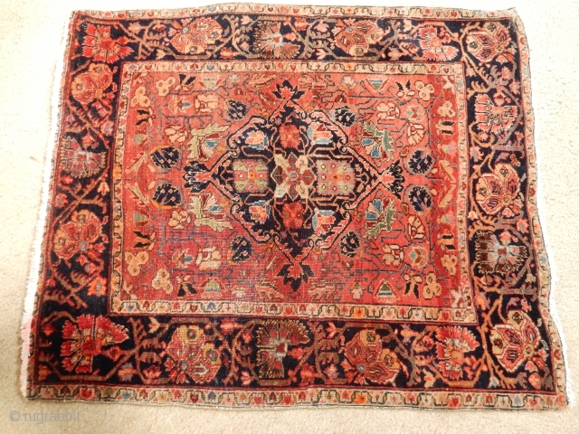 ANTIQUE SAROUK FARAHAN FEREGHAN JOZAN MAT