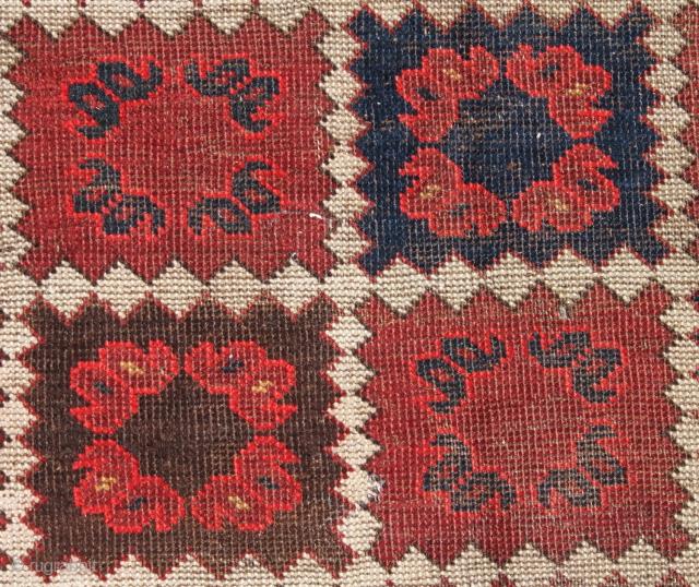 """19th Central Asian Turkmen Beschir Rug Fragment. 172 cm. x 134 cm. { 4.39"""" x 5.64"""" foot }"""