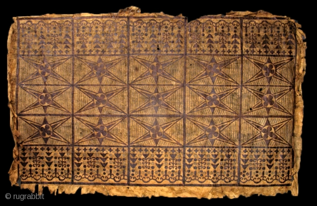 """19th century Samoan Tapa (bark cloth) Skirt, Polynesia. dimensions: 67.5"""" x 41"""". Brant Mackley Gallery is always seeking American Indian and other tribal items.  Also wanted: backcloth from Indonesia. www.brantmackley.com Two Gallery locations  ..."""