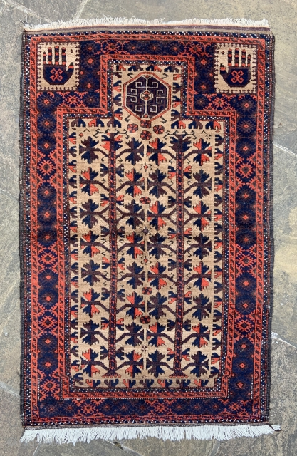 Antique Baluch prayer-rug in good condition.
