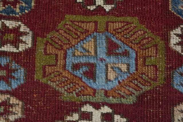 Central Anatolian Cihanbeyli Yastik.  Early 20c. Beautiful bright colors.  Ends and sides restored with old matching wool. Cheap.