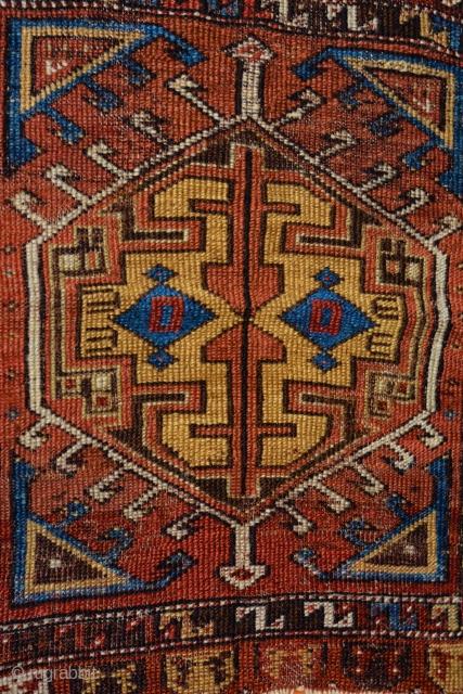 Konya yastik. Mid 1800s. Classic design including full repertoire of Konya palette. Low pile but no restorations.