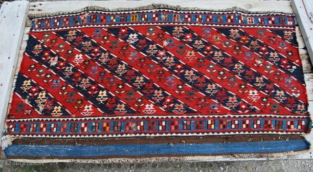 Mogan Shahsavan sumakh mafrash side panel.
