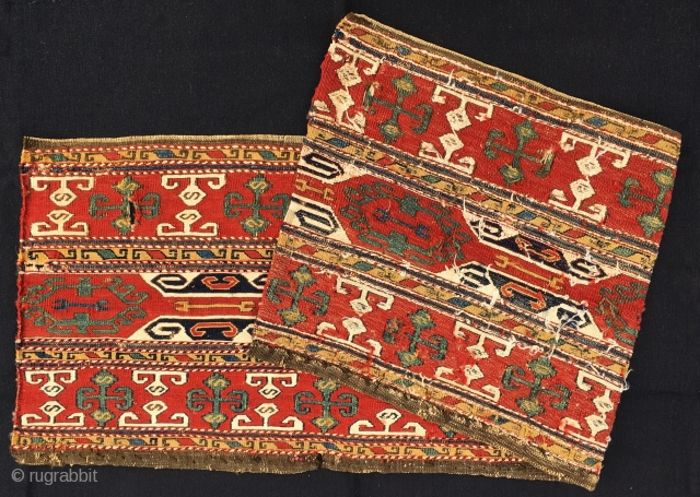 Karabagh (Black garden)Sumack mafrash long panel. Cm 40x120 ca. Good age, 1880 ca. Wonderful colors, great pattern. On the whole in a good condition. Looks sweet, fresh, sunny, very pleasant.