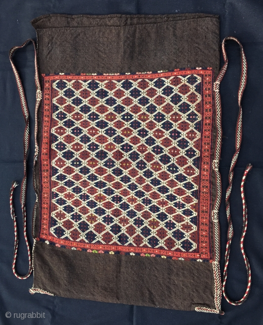 Yagcibedir Cuval/Storage bag. Western Anatolia, Turkey. Early 1900, in mint condition. Cm 70x105 ca. Wool brocading on goat hair. Woven by nomads in the Bergama area. Very fine and skilled weave. Collector's  ...