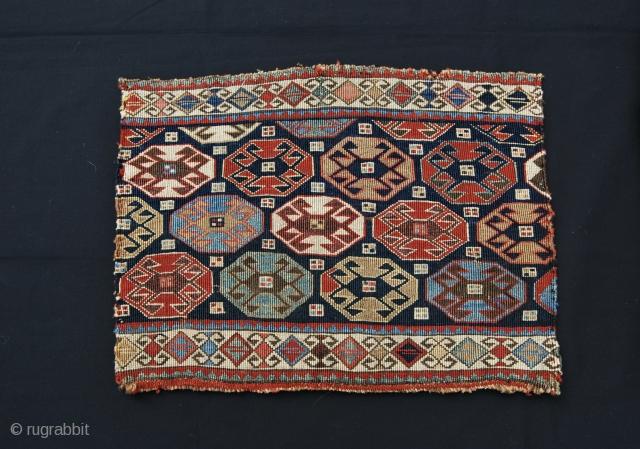 Shahsavan reverse sumack mafrash panel. Best quality, best age, best colors.