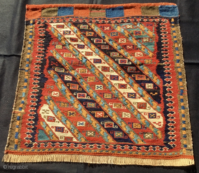 Shahsavan Sumack khorjin/saddle bag face. Cm 55x55 ca. Good age, good colors, good condition. Watch, u might like it.