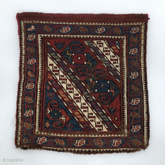 Dragons caught by snow. Baku khorjin sumack bag face. Antique beautiful intriguing collector's item. Pls ask