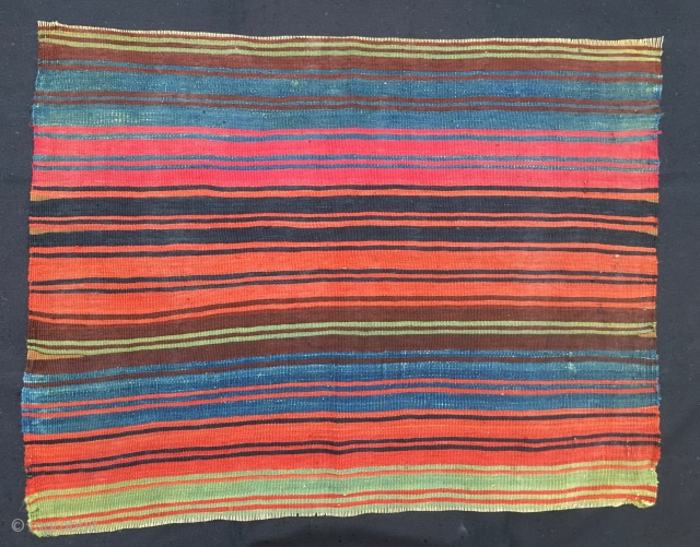 """East Anatolian kilim back of a saddle bag/heybe. Cm 62x78. Kurdish, Malatya area. End 19th c. Fantastic colors. I think it might need a wash. The price of this Master """"painting"""" is  ..."""