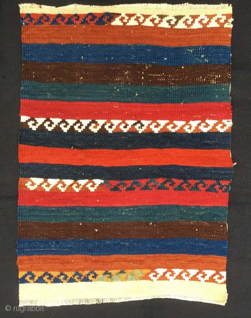 East Anatolian Kurdish kilim fragment. Cm 41x57.  end 19th century. Fantastic natural saturated colors. Just a fragment, but what a fragment, a modern painting!