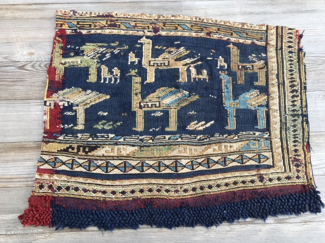 Azeri Verneh horse cover fragments. Great age, great work, great pattern, great beauty, small price.....