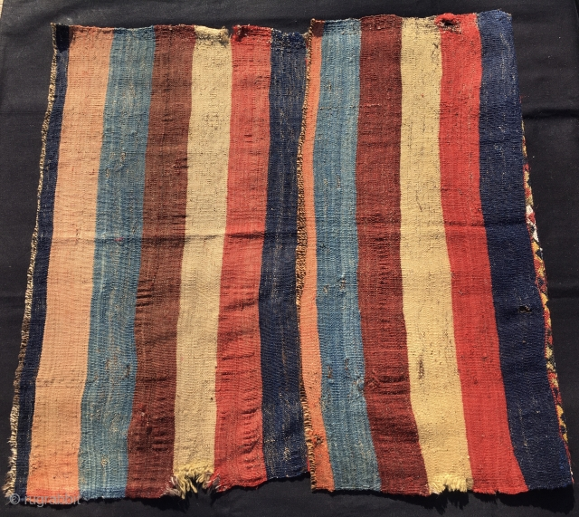 We are cheating the time. See this piece here: the left hand side is the front, the right hand side is the back. It's a storage bag, a cuval in Turkish, about  ...