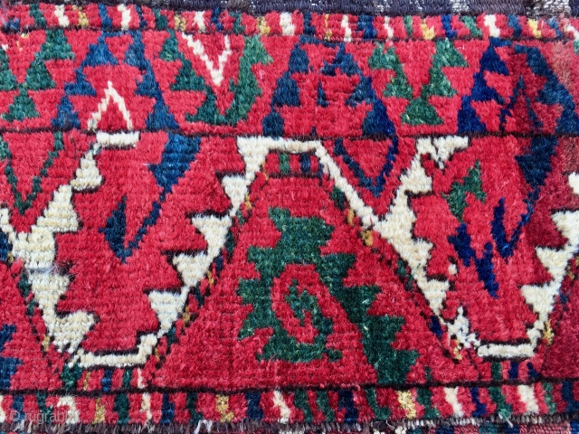 Turkmen Ersari pile rug fragment. Cm 35x180. First half 19th century. Kind of Salorish flavor. Fantastic deep saturated colors. Ask for more pics & infos.
