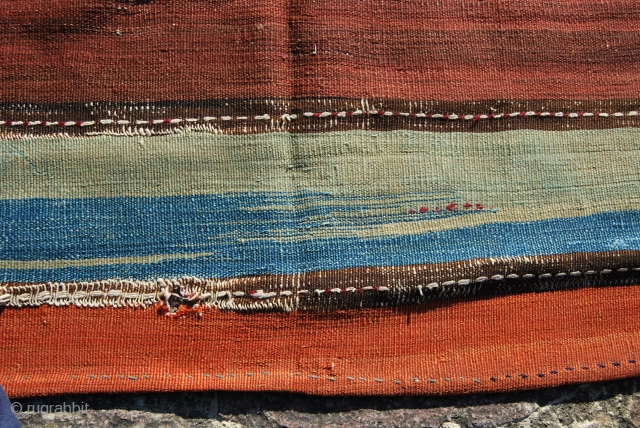 This cuval or storage bag is most probably from Sinankoy village in the Malatya province, Eastern Anatolia, Turkey. They used fantastic, deep, natural dyes while in the weaving of the central part,  ...