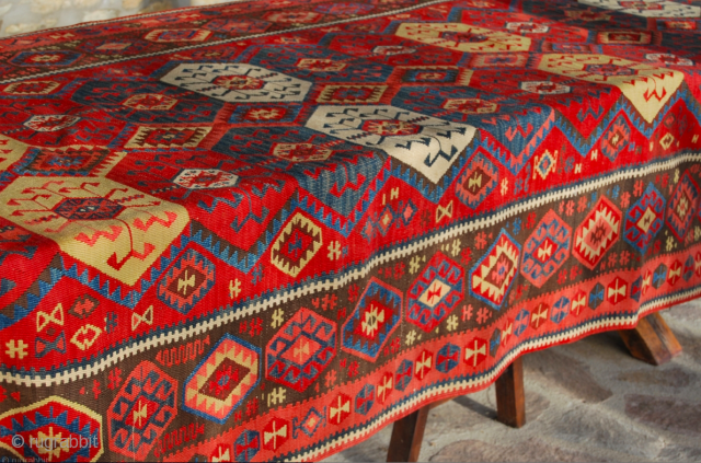 Kars Kilim. For more pics and infos please see my previous post: http://rugrabbit.com/node/180091  Eastern Anatolia, cm 155x410, 2nd half 19th century, great colors, great condition, few minor restorations, rare, collection piece. - For  ...