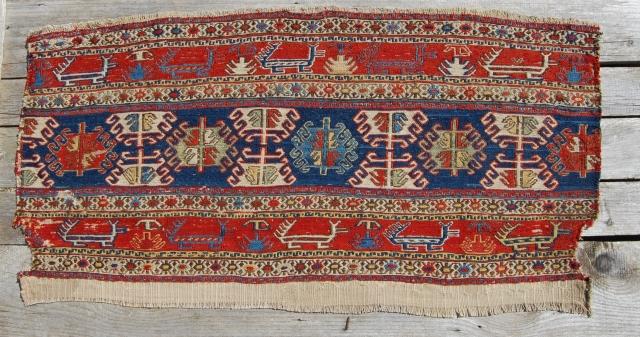 Shahsavan Sumak Mafrash long panel. Antique, beautiful, colorful & rare. Pls ask for more pics & infos.