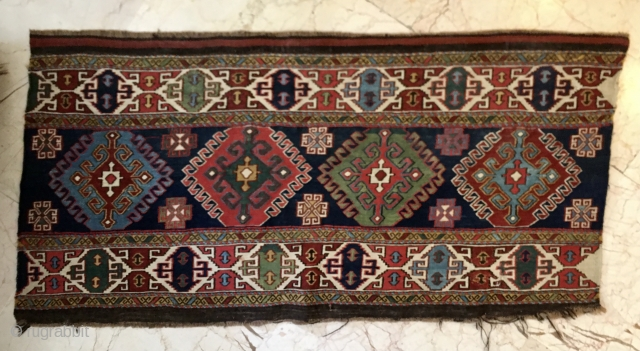 Shahsavan Sumack Mafrash long panel. Rare, beautiful, in great condition. Last chance to get a great piece like this, not many left anywhere. Bad photo, but super panel. Shipping from Istanbul.