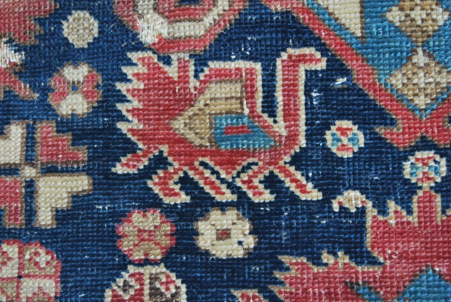 Perepedil fragment - cm 82x176 - probably first half 19th century - wool, cotton, wool -great, deep dyes - tight, fine weave - just a fragment but full of character, aura,.......beautiful.......