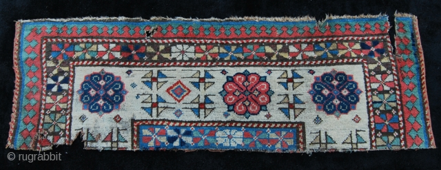 Talish rug fragment. Cm 38x116. Second half 19th century. Great colors, great size, beautiful fragment! See more pics on FB: https://www.facebook.com/media/set/?set=a.10150216856334258.346977.358259864257&type=1