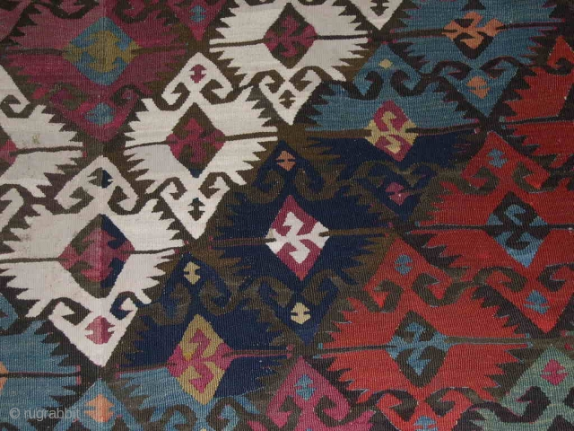650CK ADANA ELIBELINDE KILIM - EASTERN ANATOLIA, TURKEY - CM 158X400 - IN TWO STRIPES - SECOND HALF 19TH CENTURY - WONDERFUL NATURAL DYES - GOOD CONDITION -