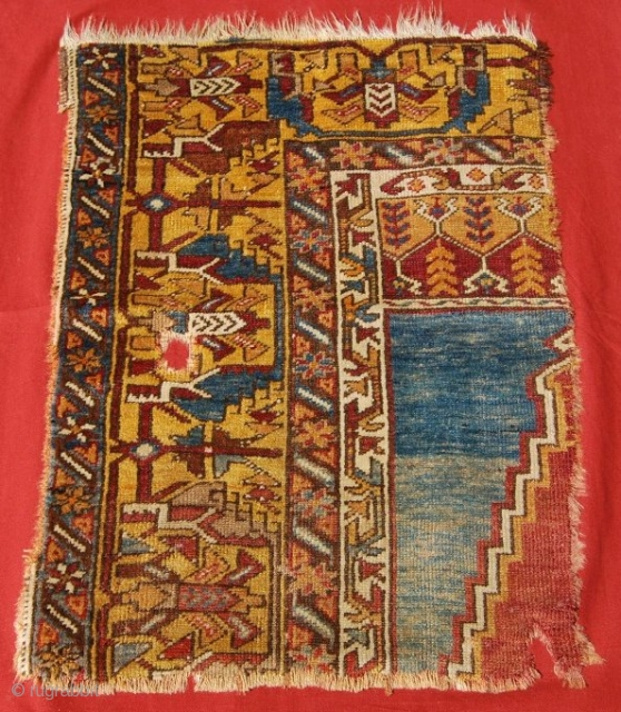 Yahyali Zile rug fragment. Central Anatolia. 4th quarter 19th century. Cm 78x56. A lovely, great fragment for a small price. See more pics on Facebook: https://www.facebook.com/media/set/?set=a.10151234923749258.513328.358259864257&type=3 