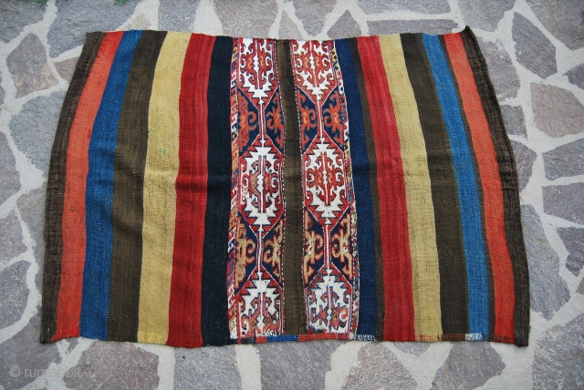 Wonderful antique Anatolian cuval. More infos & pics on rq.