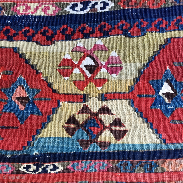East Anatolian wonder color kilim strip. Enjoy some details. If interested will produce full length photo.
