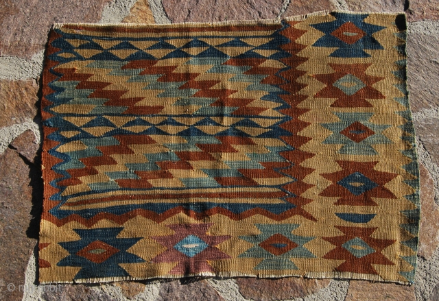 Manastir kilim fragment. Size is cm 56x82 ca. Approx age could be 1890/1910. Mounted and framed would look great! See more pics on my fb page: https://www.facebook.com/media/set/?set=a.10153852199039258.1073742073.358259864257&type=3