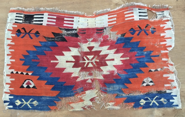 Konya(?) super kilim fragment. Cm 68x110 ca. 2nd half 19th century. Fantastic natural saturated colors. If you want a museum kilim fragment for the cost of a bottle of Champagne......well, you are  ...