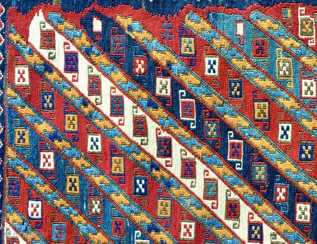 Shahsavan Sumack khorjin bag face. Cm54x54. In mint condition. Great pattern. Amazing colors. Yes, you are right, it's a super sumack.